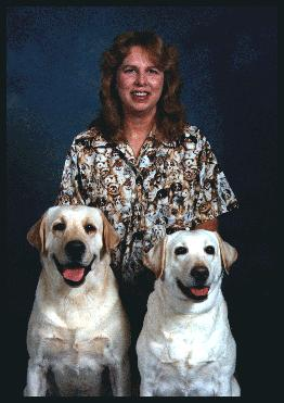 Picture of me with 2 dogs
